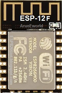 ArunEworld_ESPressif_ESP8266_ESP-12F_Top_BlackBorad