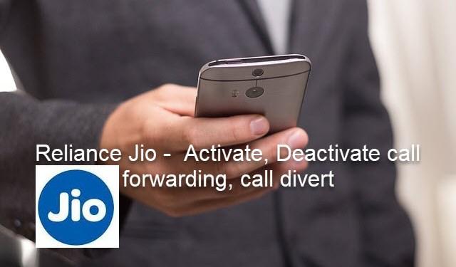 call forward in reliance jio