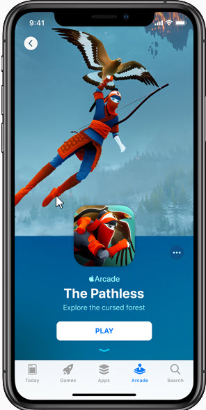 The pathless on Apple arcade