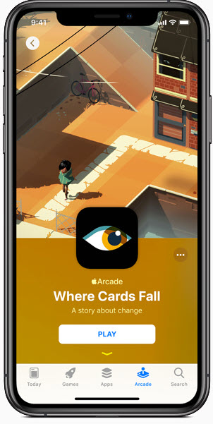 Whare card fail game on apple arcade