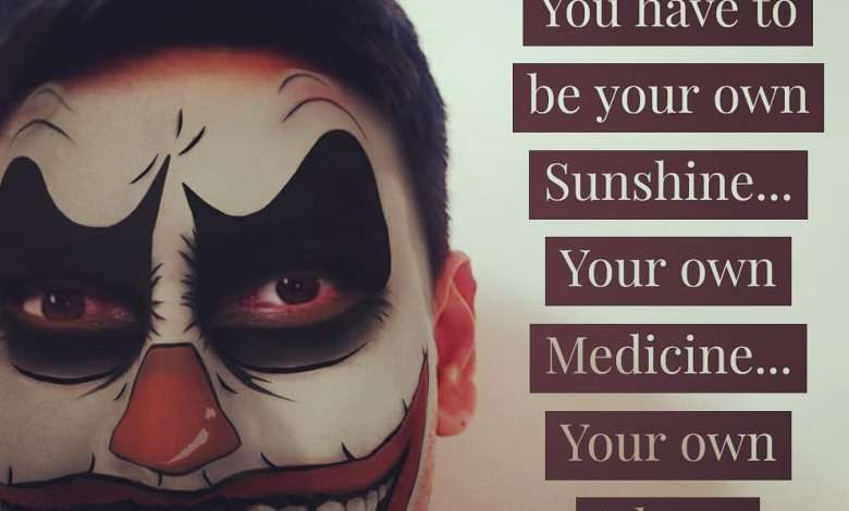 Photo of Joker Quote on Self Healing and being self sufficient by Arun Pandit