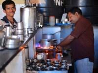 pics of chai and breakfast at Kini Hotel Kumta by Arun Shanbhag