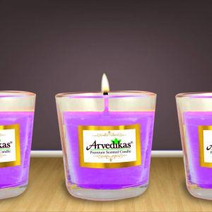 Lavender Scented Candle Set in Shot Glasses