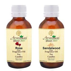 Sandalwood & Rose Fragrance Oil For Candle Making