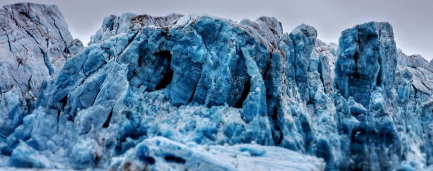Glacier ice (Photo: Ann E. Lennert).