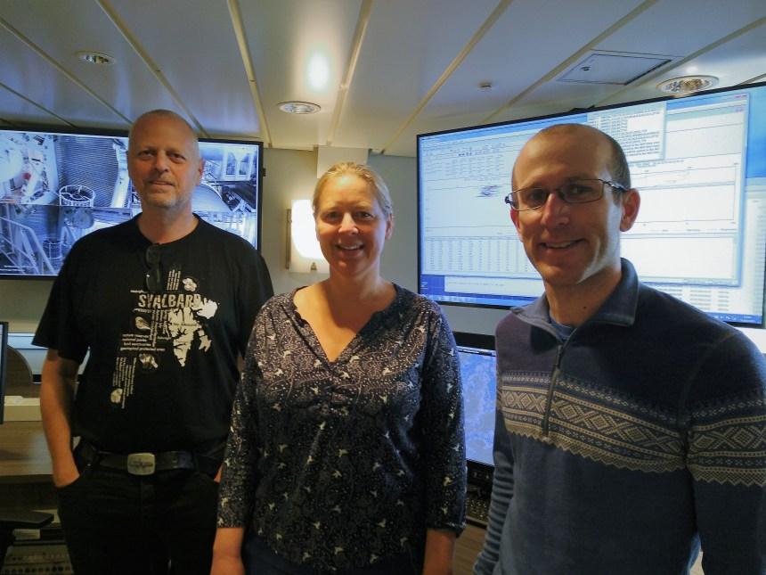 Øystein Godøy (MET), Tove Gabrielsen (UNIS), Pål Gunnar Ellingsen (UNIS)