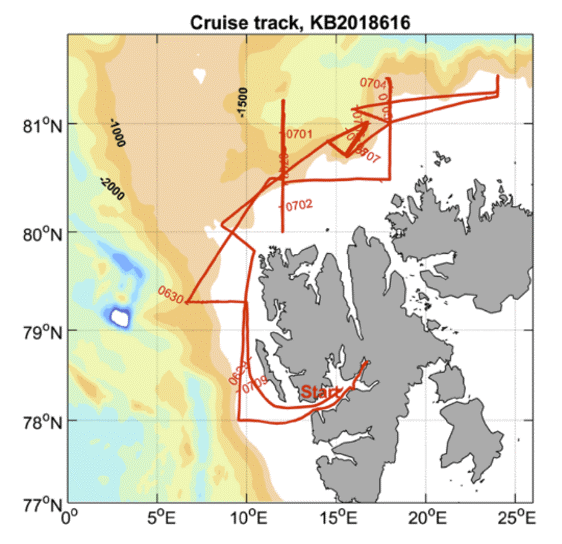 Cruise track 'Ocean mixing process study'
