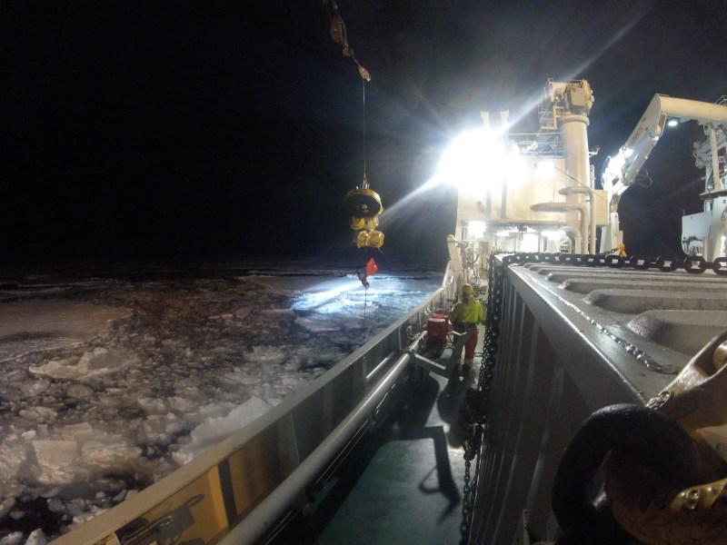 Forskere i arbeid i Barentshavet