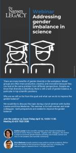 Poster for webinar Gender Balance