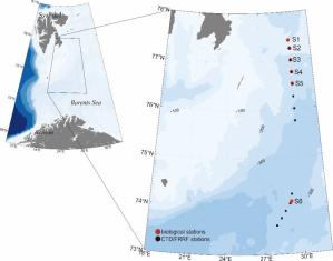 Station map ARCTOS cruise