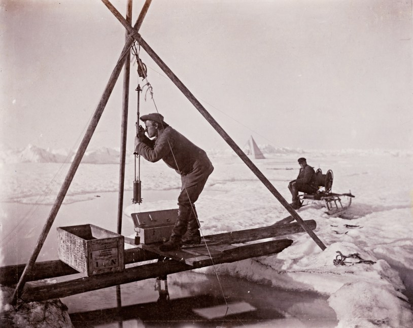 Work on the ice 125 years ago Photo: Fridtjof Nansen (1861-1930) Owner: National Library of Norway
