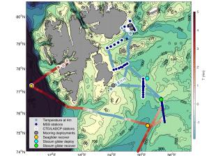 Station map Winter Process Cruise