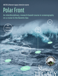 Poster for ARCTOS_NL Polar Front PhD course 2021