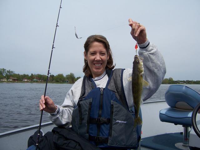 Julie with a walleye