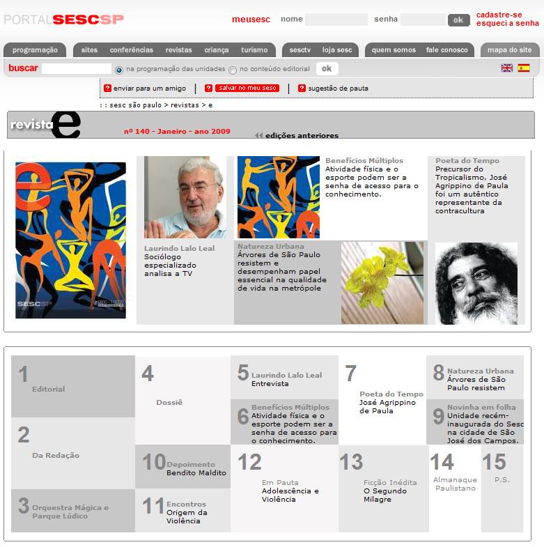 portal sesc revista E