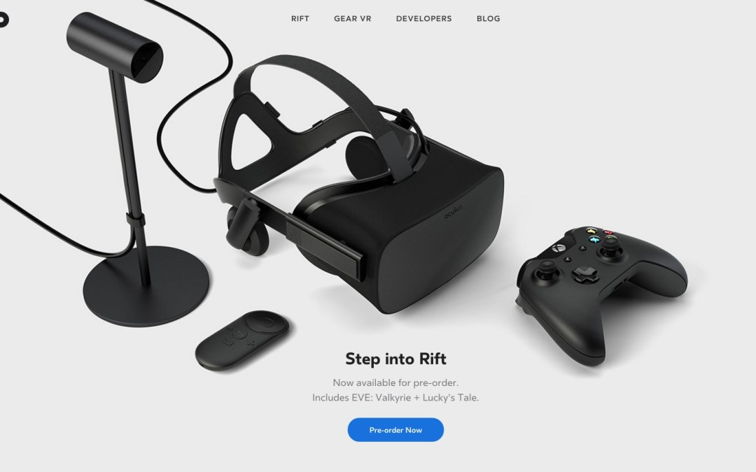 Oculus Rift Opens Preorders With Price Set At $599