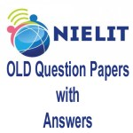 nielit o level question paper with answers