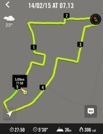 Route of 5.05k