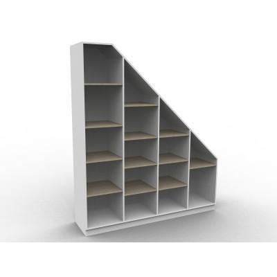 bibliotheque sous escalier sur mesure