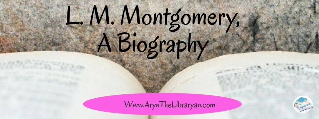 Open book, L. M. Montgomery Biography