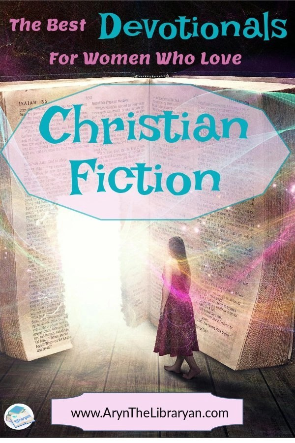 Woman stepping in to a Bible. The best Devotionals for women who love Christian fiction
