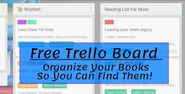 Free Trello Board for organizing your reading material. (trello screenshot)