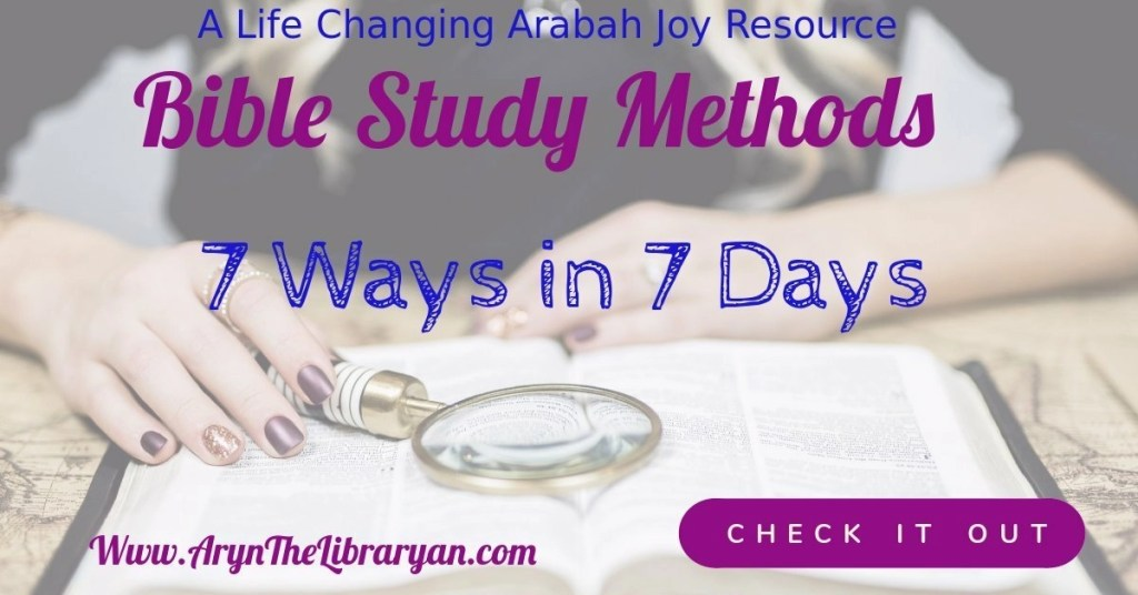 Woman studying her Bible. Bible study methods 7 Ways in 7 Days.