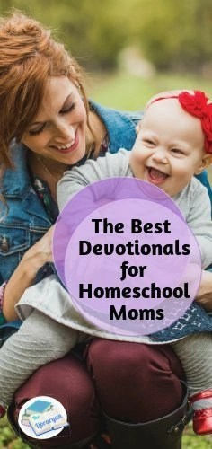 mom and baby laughing: Best devotionals for homeschool moms
