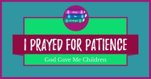 I Prayed for Patience, God Gave Me Children