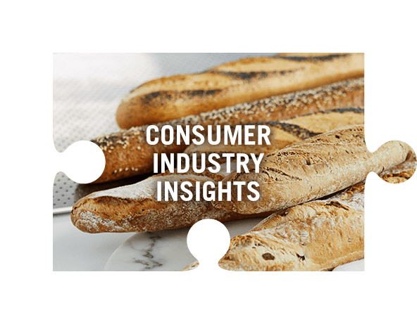 Consumer industry insights jigsaw piece