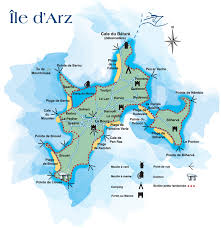 Carte de l'île d'Arz / Map