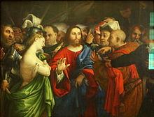 Lorenzo_Lotto_-_The_adulterous_woman_-_Louvre