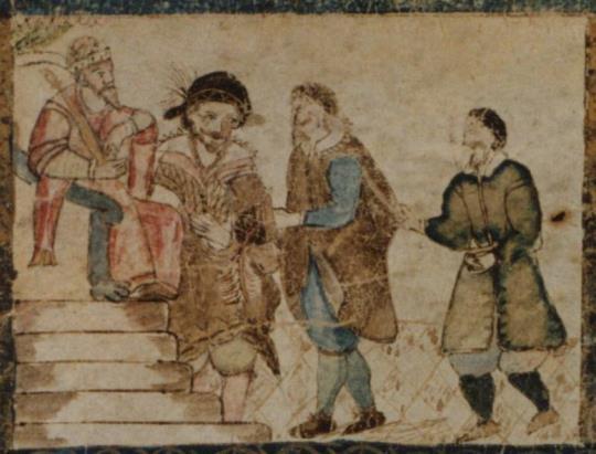 325 Ahasureus sur son trône