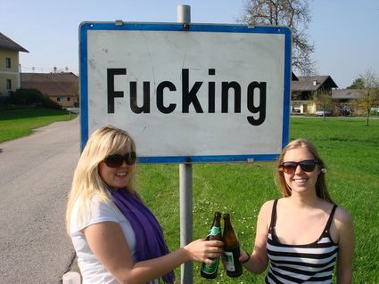 A place in Austria called  Fucking, changes its name to Fugging!