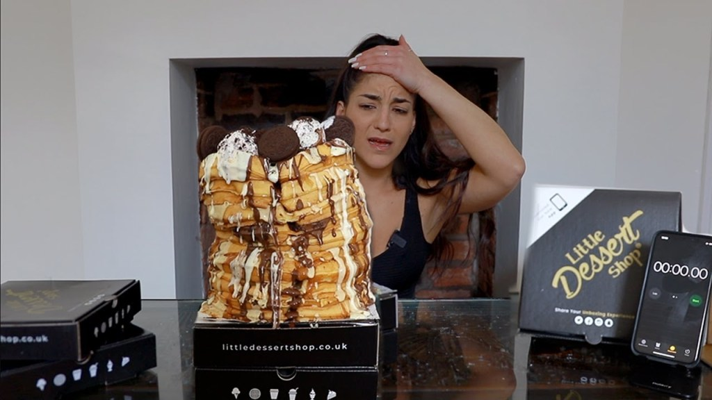 Read more about the article 7lb ULTIMATE FANTASY WAFFLE STACK | WAFFLE CHALLENGE | Waffle Day 2021 | @shutkeverofficial