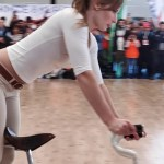 Girl Biker Performs – You Must See
