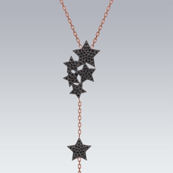 Rose Plated Starry Night Necklace