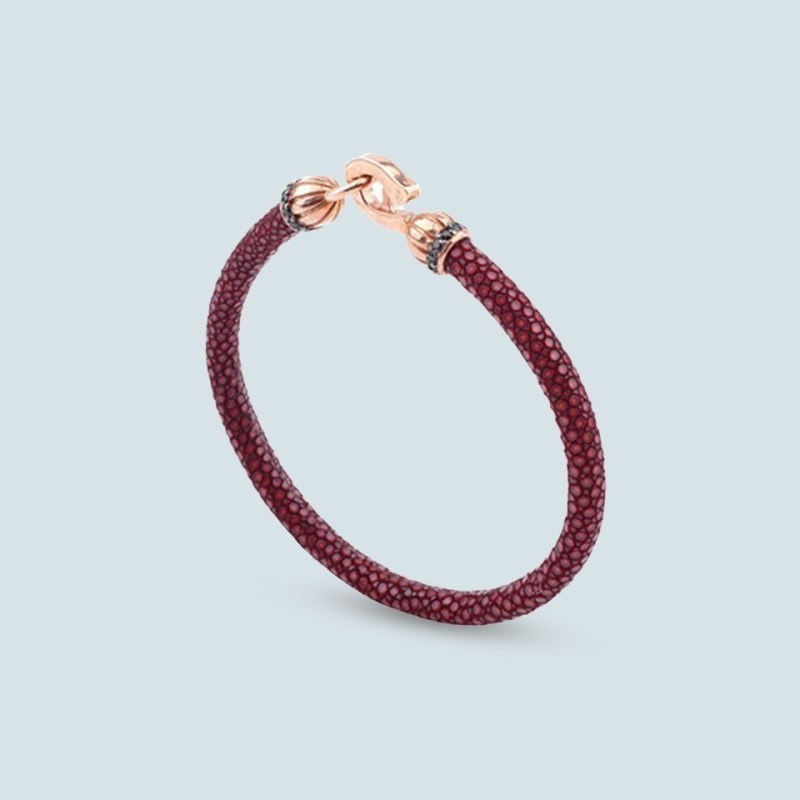 SIlver and leather bracelet for women