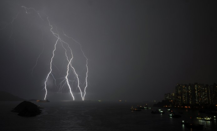 Hong Kong lightning