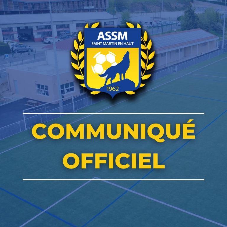 ASSM Foot Saint Martin en Haut | Communiqué officiel