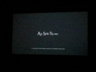 First Time on The Big Screen