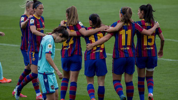 Barça 7-1 Levante: Un Barça sin piedad pone la directa al título de Liga -  AS.com