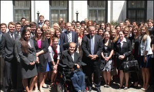 Students in The Washington Experience, with Supreme Court Justice Antonin Scalia