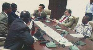 Meeting between Arts and Sciences and University of Ghana leaders.