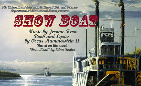 "Poster for the musical ""Show Boat"""