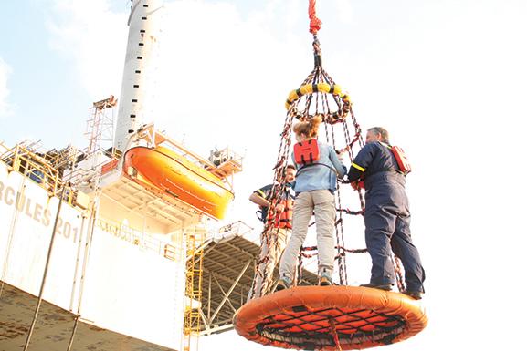 Alumnus Jim Noe on a drilling platform