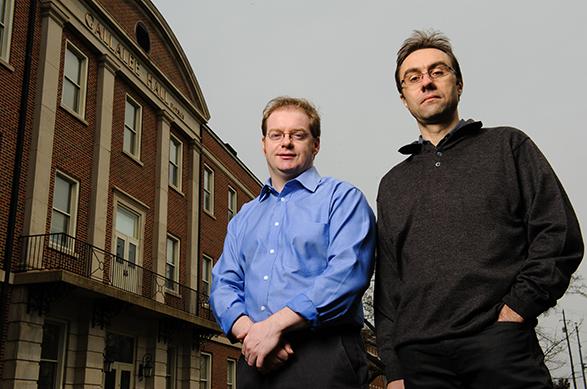 Conor Henderson and Paolo Rumerio outside Gallalee