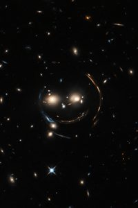 NASA's Hubble Space telescope took this optical picture of the the Cheshire Cat group, which is 4.6 billion light years away.