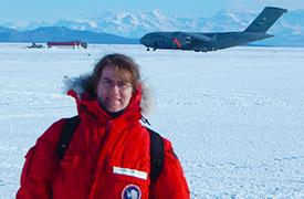 Dawn Williams in Antarctica