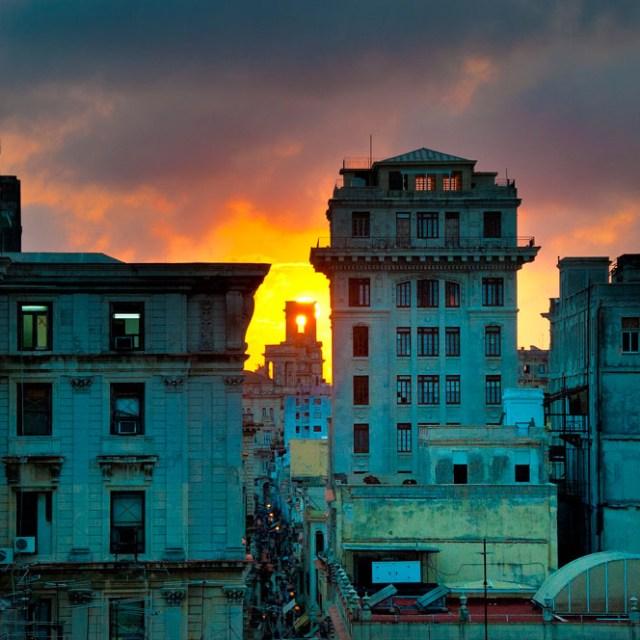 sunset in Havana, Cuba